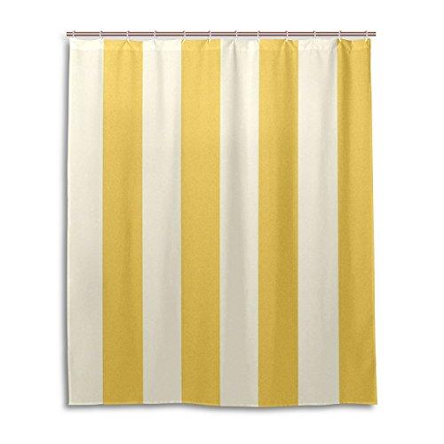 My Daily Einzigartige gelb und weiß Streifen wasserdicht Badezimmer Decor Polyester Duschvorhang 152,4x 182,9cm
