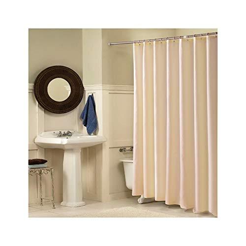 SonMo Duschvorhang Einbunte Polyester Beige Anti-Bakteriell Anti-Schimmel Wasserdichtbadezimmer Vorhang mit Duschvorhangringen 240×200CM