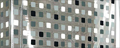 Kleine Wolke 3319110745 Eckduschrollo, 132 und 56 x 240 cm, grau