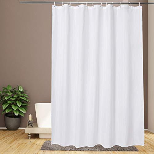 Duschvorhänge 180 x 200,Weiß Anti Schimmel Wasserdicht und Schimmel Resistent,Textil Duschvorhang