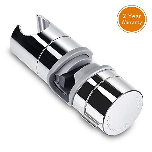Handbrause Halterung Aoleca 18-25 mm Verstellbar Brausehalter Duschhalterung für Handbrause oder Duschkopf Für Badezimmer, 360° drehbar, ABS Grade Kunststoff, Verchromt