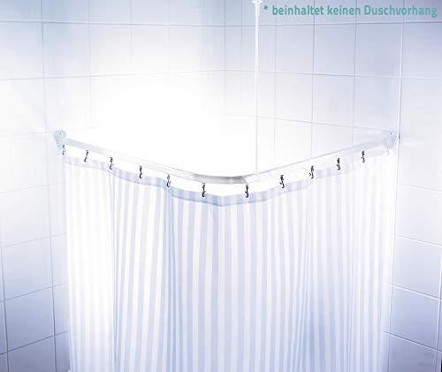 RIDDER Vorhangschiene weiß 90x90 cm