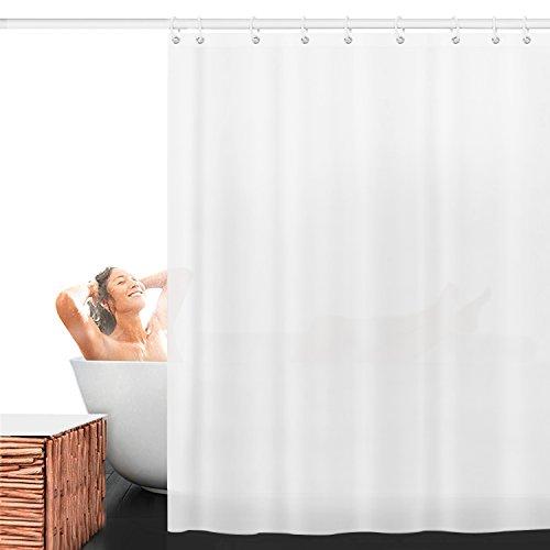 Duschvorhang Anti-Schimmel, Aodoor Anti-Bakteriell Wasserabweisender Stoff PEVA mit 12 Duschvorhangringe für Badezimmer, 180 x 200 cm