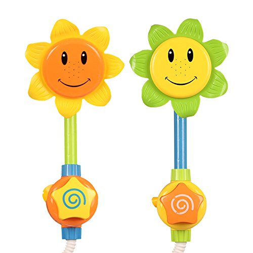 Da.Wa 1 Stück Duschspielzeug Baby Badespielzeug Sonnenblume Dusche Spray Bad Spiel, Farben Zufällige