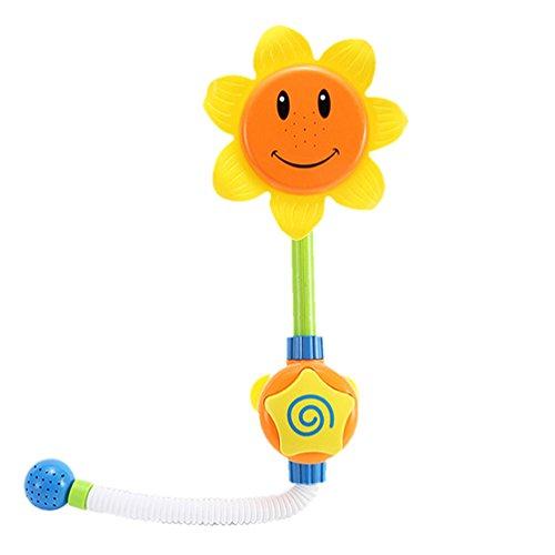 forepin Badespielzeug Kinder Yellow Baby Duschspielzeug mit Sonnenblume Duschkopf Wasserspiele Badewannen Kinderspielzeug