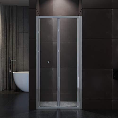 90x185cm Duschkabine Falttür Duschtür Duschwand faltbar