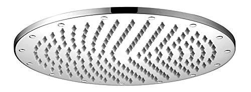 Design Dusche Regenschauer Duschkopf 300mm rund massiv Messing Chrom Sanlingo