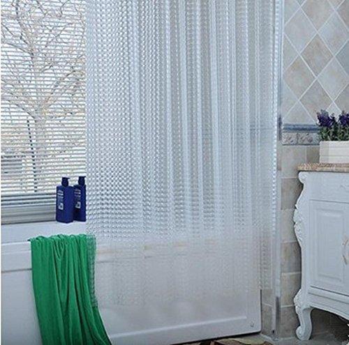 1/pc 3D Effekt Wasser Würfel Mehltau Beweis Wasser Beweis Duschvorhang 120x200cm (48x80Inch), Hochleistungs 100% EVA Bad Vorhang mit Vorhang Haken