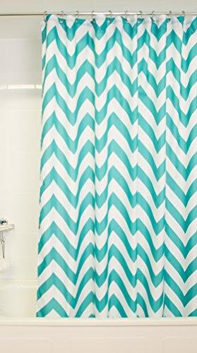 Croydex gelb & grau Chevron Textil-Duschvorhang mit Hygiene 'N' Clean, gelb/grau