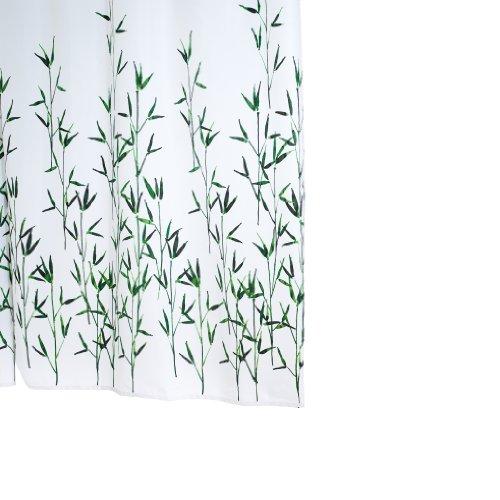 RIDDER 47305-350 Duschvorhang Textil ca. 180 x 200 cm, Bambus inklusive Ringe