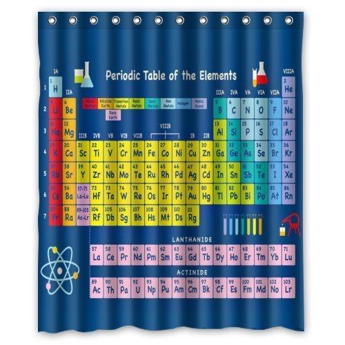 Violetpos Periodensystem der chemischen Elemente Duschvorhang Badezimmer Dekorative 180 x 200 cm