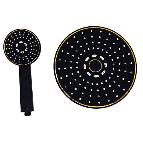 ZACKEN-Badezimmer-sofortiger Mount 3-Wege-Luxus-Hochdruck-Regendusche Kopf / Handbrause Combo ABS Material, schwarz