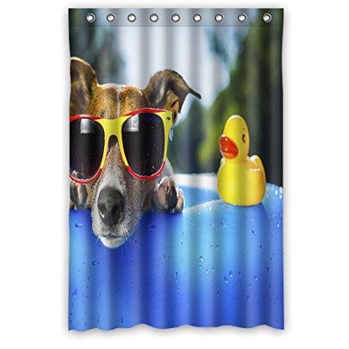 """doubee Custom Hund und Ente Wasserdicht Polyester Duschvorhang Badezimmer Elegante 120cm x 183cm, Polyester, A, 48"""" x 72"""""""