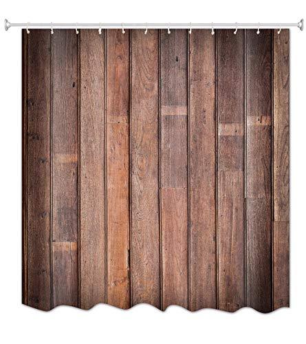 """A.Monamour Alt Braun Grunge Vertikale Planken Holz Textur Hintergrund Stoff Polyester Wasserdicht Mehltau Resistent Duschvorhang Für Bad 180X200 cm / 72"""" X78"""