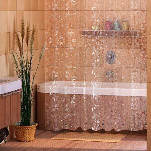Duschvorhang, Badezimmer, Badewanne, Umweltfreundlich, Waschbarer, Anti-Schimmel, Anti-Bakteriell, Schimmelresistent Duschvorhang - Solid Weiß, 180 x 180 cm (71 x 71 Zoll) | 100% Polyester