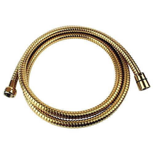 Sanixa 1117OR Qualitäts Duschschlauch Gold 170 cm | Edelstahl | für Handbrause/Duschbrause | Standard Anschluss | Brauseschlauch | Bad Zuebhör