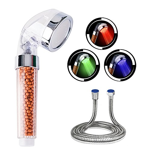 LED Duschkopf, CNASA Handbrause ist Wassersparer, das Wasser fühlt sich tatsächlich weicher an, Der Farbenspiel ist angenehm, 7 Farben-ändernder, Spa-Duschen