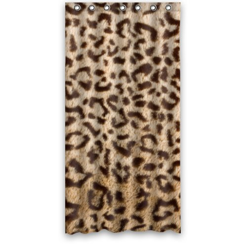 CHATAE Custom ES Haut Fell Leopard Design Stall Schimmelresistent Wasserdicht Badezimmer Stoff Duschvorhang 91,4x 182,9cm