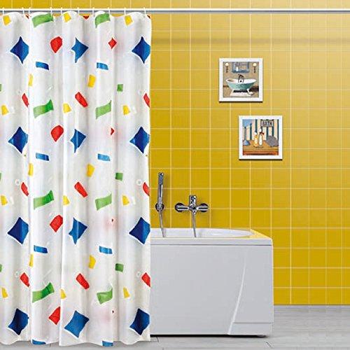 Feridras 187063Duschvorhang, Kunststoff, Mehrfarbig, 5x 240x 200cm