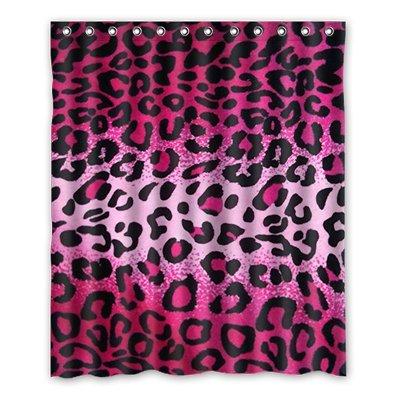 dalliy Custom Leopard Muster Duschvorhang Polyester 152cm x 183cm, Polyester, B, 152,4 x 182,9 cm