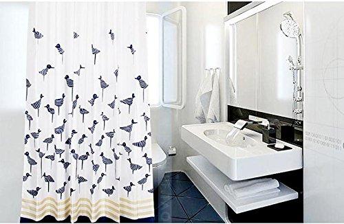 Beddingleer Duschvorhang Anti-Schimmel 200x200 cm Möwe Bad Duschvorhang textil Wasserdicht und Mildewproof aus 100% Polyester