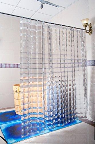 Duschy Duschvorhang 3D- Transparent - Duschvorhangringe separat erhältlich
