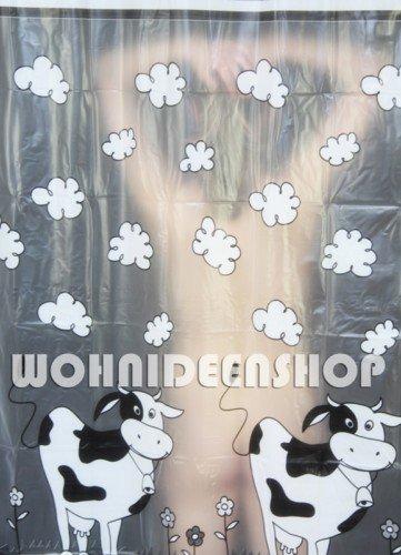 Duschvorhang Kühe Vinyl 240cm breit x 180cm lang incl. Ringe