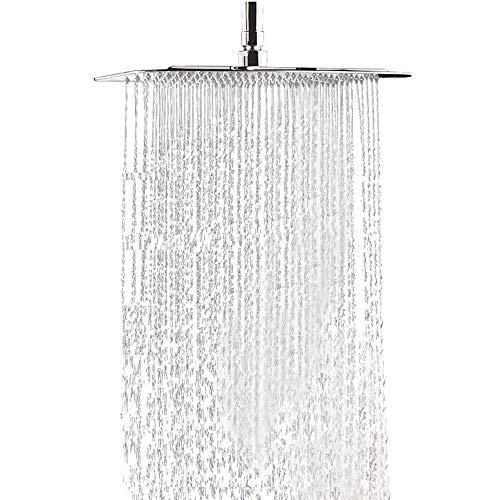 Regen Duschkopf, Moderner Edelstahl Quadratischer Wasserfall Regenduschkopf Anti-Kalk-Düsen Platz Duschkopf mit 20 Zoll