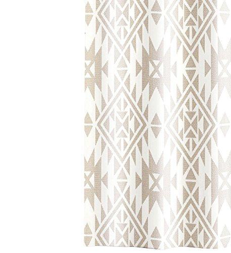 Barbara Becker Duschvorhang Ashanti textiler Griff beige/weiß Größe 180x200 cm