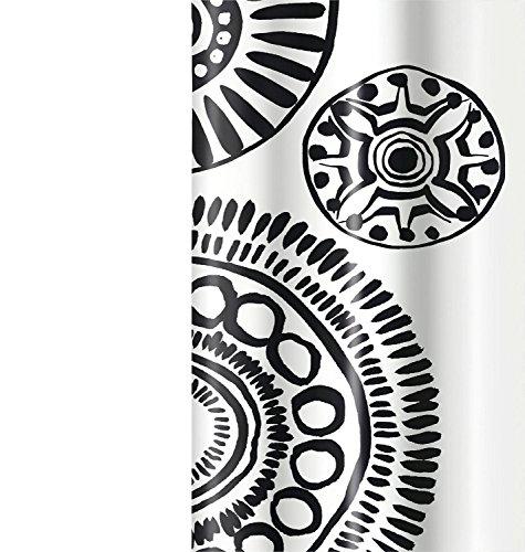 Barbara Becker Duschvorhang Mikasi textiler Griff schwarz/weiß Größe 180x200 cm