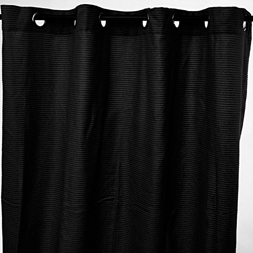 Thedecofactory Moderner, urbaner Vorhang (150x 250cm), schwarz, 100% Baumwolle–Stil: Modern