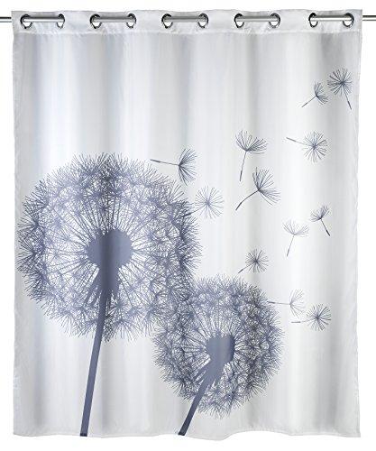 Wenko 22493100 Anti-Schimmel Duschvorhang Astera Flex, Anti-Bakteriell, wasserabweisend, 180 x 200 cm, weiß