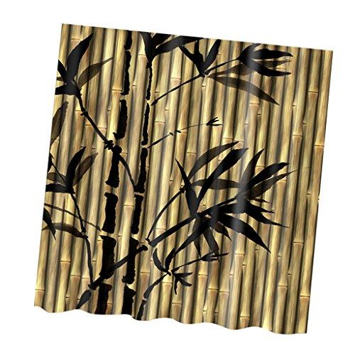 Sharplace Polyester Duschvorhang Anti-Schimmel - Lila Blüten, 180cm × 180cm