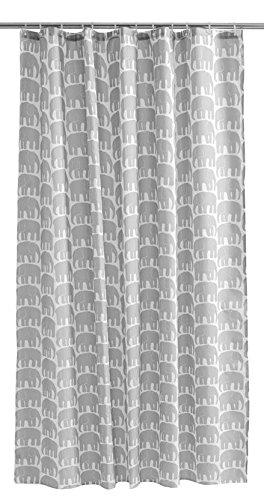 Finlayson elefantti Dusche Vorhang, Baumwolle, Grau, 180x 200cm