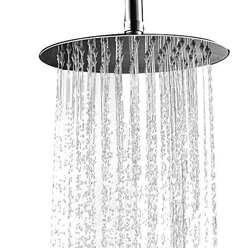 Regendusche Duschkopf Einbauduschkopf Kopfbrause Regenbrause Edelstahl mit Anti-Kalk-Düsen Duschkopf Wasserfall Regenduschkopf 30cm 12 Zoll- Rund ourvann