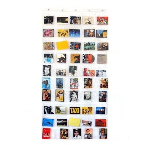 HAB & GUT (DV008) Duschvorhang mit 50 Taschen 90 x 180