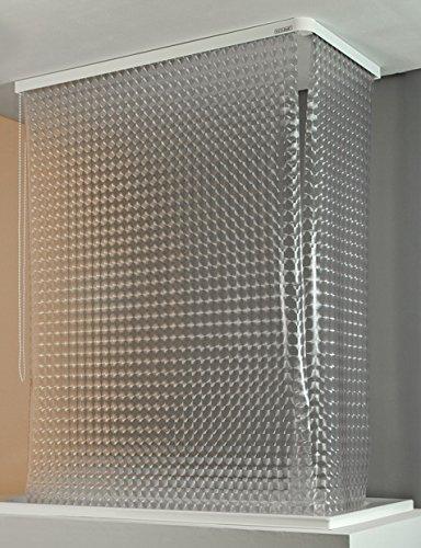 ECO-DuR  4024879002411 Kassetten ECK Duschrollo 137 x 62 cm silber - Kreisel