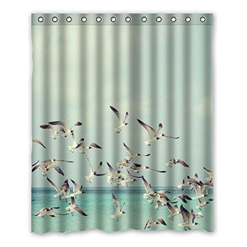 """152 cm x183 cm (60 """"x72"""") Badezimmer Duschvorhang, Meer fliegenden Möwe Schöne HD-Muster-beiläufige Lebensstil Gewohnheit Duschvorhang"""
