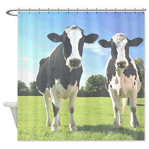 PETGOOD Duschvorhang Kühe viele schöne Duschvorhänge zur Auswahl, hochwertige Qualität, Wasserdicht, Anti-Schimmel-Effekt 180 x 200 cm