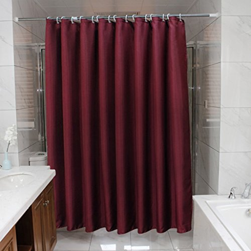 ZJM-Bath Vorhang Feste Farbe Wein Rot Hotel Duschvorhang Stoff Badezimmer Wasserdichte Duschvorhänge Dicker Schimmel Bad Tuch Vorhänge ( größe : 150*200cm )