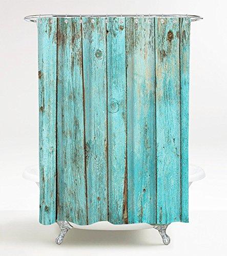 Duschvorhang Lumber 180 x 200 cm, hochwertige Qualität, 100% Polyester, wasserdicht, Anti-Schimmel-Effekt, inkl. 12 Duschvorhangringe