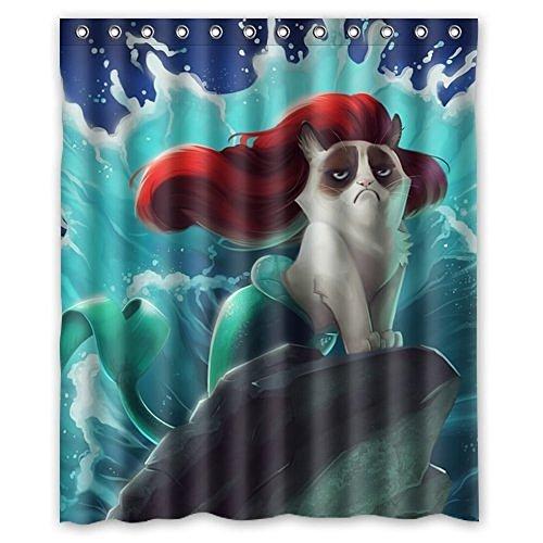 Dream Außerhalb Fashion Drücken Lupenrein Gorgeous Creative Mermaid Katze Dusche Retro Vorhang Dusche Polyester-100% wasserdicht-152,4cm (W) X 182,9cm (H) Standard