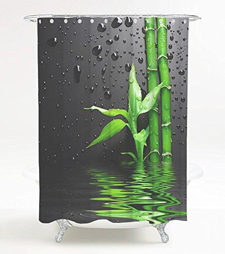 Duschvorhang Virella 180 x 180 cm, hochwertige Qualität, 100% Polyester, wasserdicht, Anti-Schimmel-Effekt, inkl. 12 Duschvorhangringe