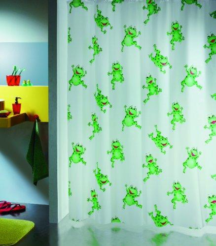 Spirella 1006487 Duschvorhang FROGTIME GREEN B x H: 180 cm x 200 cm