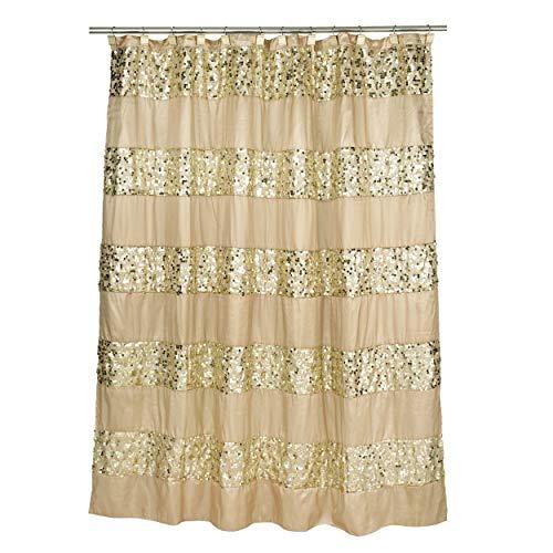 Popular Bath Bad 839166Sinatra Vorhang für die Dusche, Champagner Gold