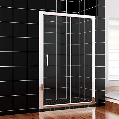 SONNI 100x185cm Schiebetür Dusche Klarglas Duschwand
