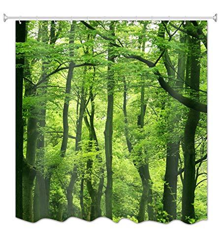 """A.Monamour Natur Landschaft Grüne Bäume Wald Bild Druck Textil Duschvorhang Für Bad Zubehör Wasserdichte Tischdecke 180X200 cm / 72"""" X78"""