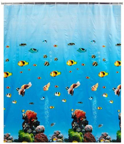 WENKO 19122100 Duschvorhang Ocean - wasserdicht, pflegeleicht, Kunststoff - PEVA, Mehrfarbig