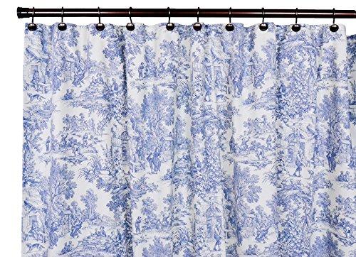 Victoria Park Toile Vorhänge, maßgeschneidert, 157 x 61 cm, Blau Shower Curtain rot
