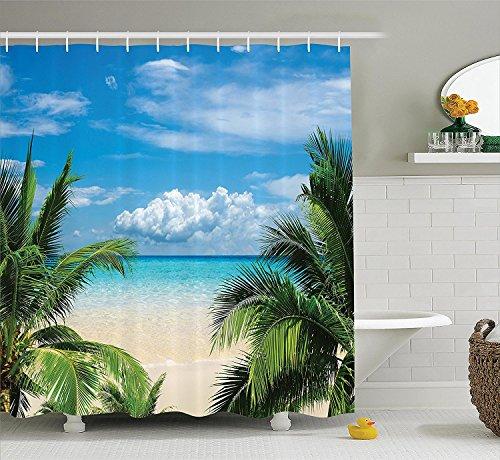 Violetpos Strand Entspannung Waterscape Meer Duschvorhang Badezimmer Dekorative 180 x 200 cm